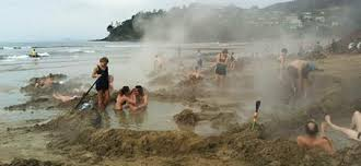 Coromandel hot water beach - quite an experience!