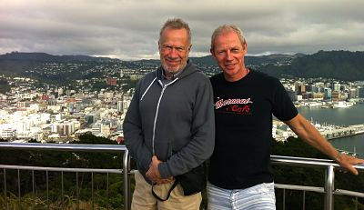 Mount Victoria lookout post Wellington New Zealand David Wickers and Jerry Bridge